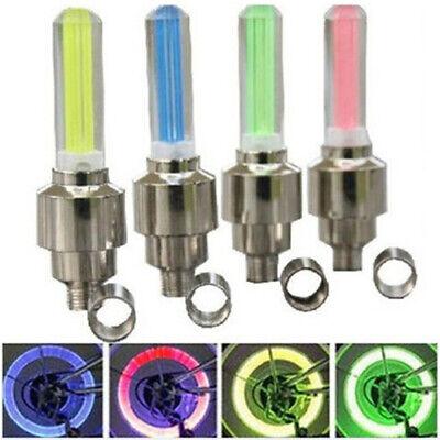 1X Autos Motor Rad Fahrrad Reifen Ventil Kappe Speichen Led Blitz Leuchte Lampe Led Reifen Lampen