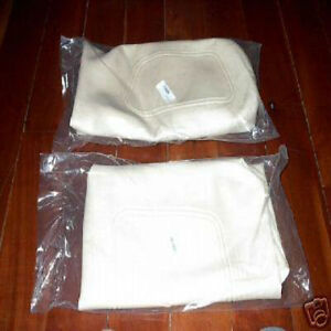 golf cart seat replacement covers 00 06 new white club car factory ebay. Black Bedroom Furniture Sets. Home Design Ideas