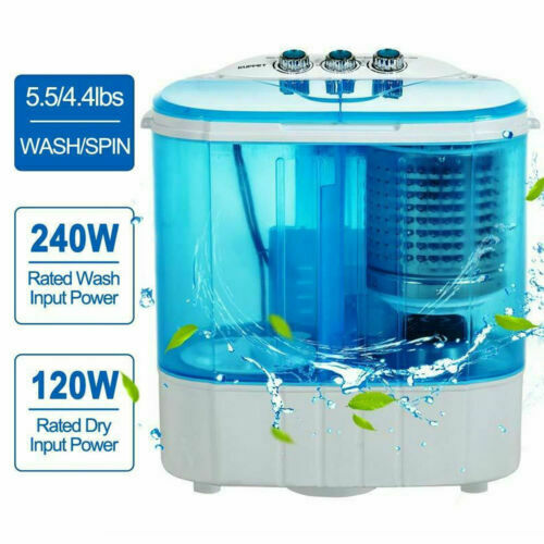 Compact Twin Tub Washer Portable Mini Washing Machine Spinni