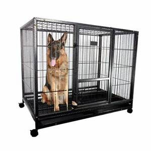 "49"" METAL DOG CAGE HEAVY DUTY PET CRATE KENNEL HOUSE 125*110*95 B Ravenhall Melton Area Preview"