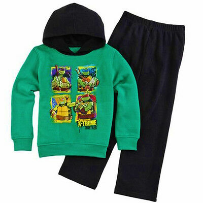 Ninja Turtles Kapuzenpulli Hose Fleece Kleidung Satz Outfit Sizes 4, 5 Or 7 ()