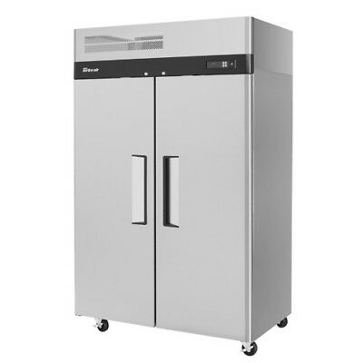 Turbo Air M3r47-2-n Two-section Solid 2 Door Reach-in Refrigerator 47 Cu. Ft.