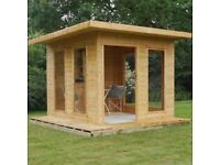 10x10 - Premium Cube Summerhouse - FREE DELIVERY
