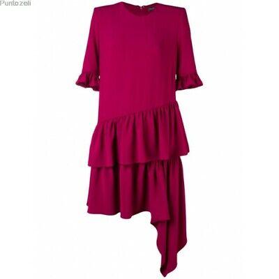 ALEXANDER MCQUEEN New sz 8 US Asymmetrical Ruffle hem Dress, lined $1985, 44 IT