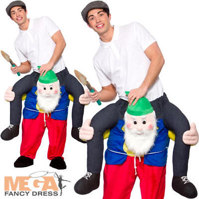 Carry Me Ride On Gnome Adults Fancy Dress Garden Dwarf Stag Mens Costume - Garden Gnome Costume Adults