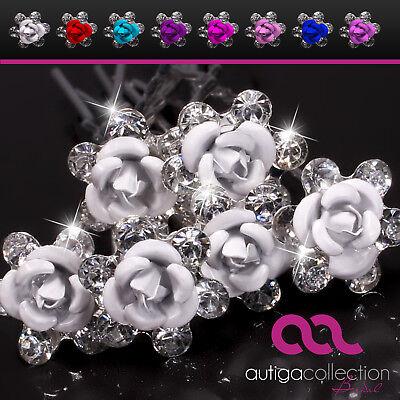 Blumen Haarnadeln Blüte Rose Hochzeit Braut Haarschmuck Brautschmuck Haarpin
