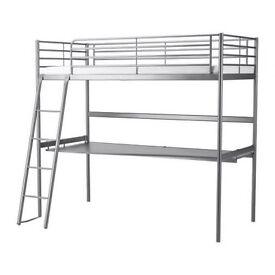 Ikea Svarta High Cabin Single Bed