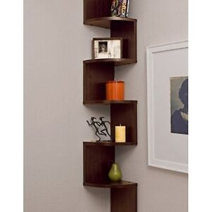 Tall Hanging Corner Shelf Stand Abstract Wall Mount