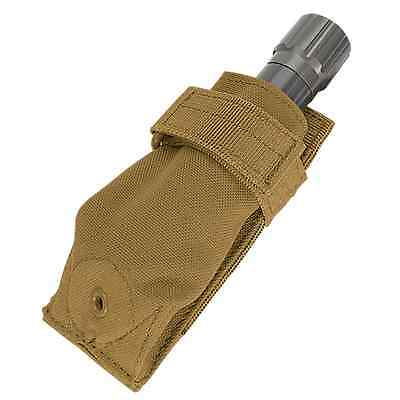 Condor MA48 COYOTE BROWN Tactical MOLLE Carabiner Flashlight Knife Holster Pouch