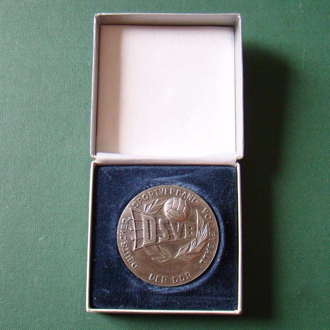 DDR Medaille - Plakette - Sport - DSVB - Volleyball - BSG Baufa Leipzig - 1987