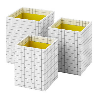 Hejsan 3-piece Pencil Cup White Yellow New Free Shipping