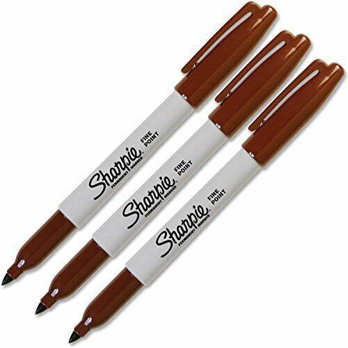 Sharpie 30037- Fine Point Brown Original Permanent Marker (3-Each)