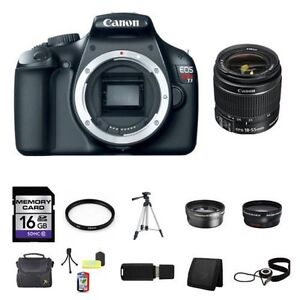 Canon EOS Rebel T3 Digital SLR Camera w/18-55mm Lens 16GB Full Kit