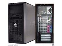 Windows 7 Dell Core 2 Duo 3.00GHz Tower PC Computer - 8GB RAM - 500GB HD Wi-Fi