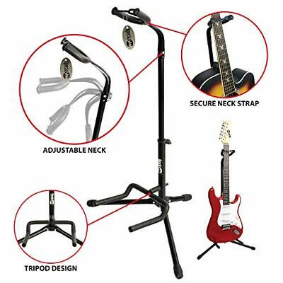 GS-001 Adjustable Vertical Tripod Guitar Stand for Acoustic and Electric Guitars