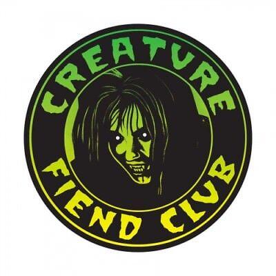 6e2687ee430 CREATURE FIEND CLUB Skateboard Sticker 4in