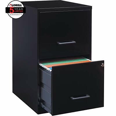 Lorell 14341 18 Deep 2-drawer File Cabinet Black