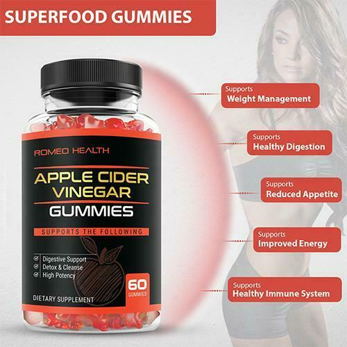 DELICIOUS APPLE CIDER VINEGAR GUMMIES IMMUNITY & DETOX CLEANSE NON-GMO 60 COUNT 3