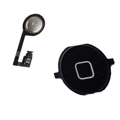 Menu Home Button Key Cap External + Internal Flex Cable For iPhone 4S Black New