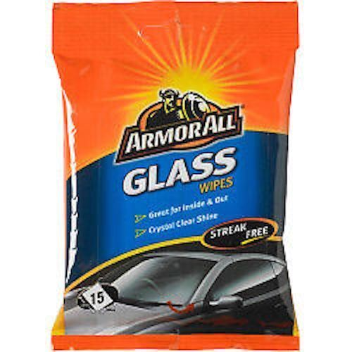 Armor All Glass Window Car Wipes Streak Free Pack Of 15