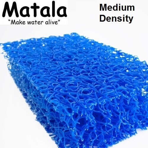 "Blue Matala 1/2 Sheet Pond Filter Mat - 24""x 39"" - Medium..."