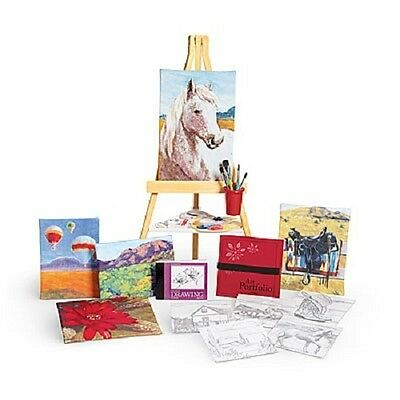 American Girl Saige's PAINTING SET easle paint brushes art for SAIGE DOLL sage