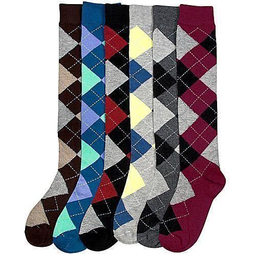 Womens Argyle Socks Ebay