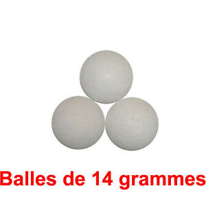 3 balles de baby foot en liege 14g balle babyfoot. Black Bedroom Furniture Sets. Home Design Ideas