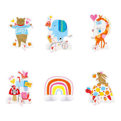 BABY SHOWER Zoo Animals MINI CENTERPIECE SET (6pc) ~ Party Supplies Decorations - Baby Zoo Animals Baby Shower Decorations