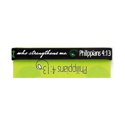 I can do all things through Christ Silicone wrist band Black christian