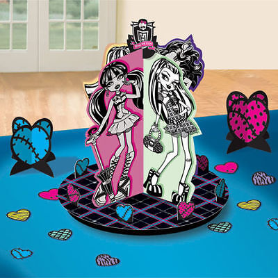 NEW Monster High Table Decorations Centerpieces Plus Confetti Birthday Supplies~ - Monster High Table Decorations