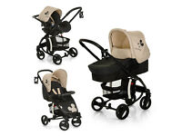 NEW NO BOX HAUCK MALIBU XL TRAVEL SYSTEM PRAM PUSHCHAIR IN MICKEY CHARCOAL UNISEX FROM BIRTH