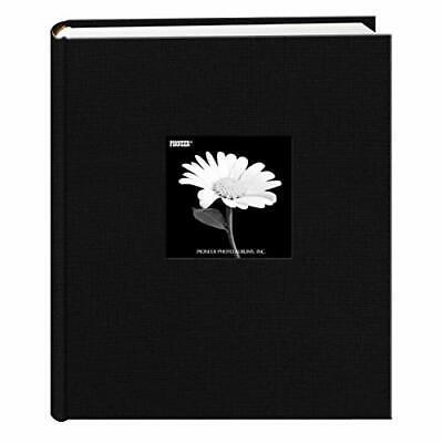 - Fabric Frame Cover Photo Album 200 Pockets Hold 5x7 Photos, Deep Black