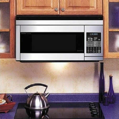 Sharp 1.1 Cu. Ft. Convection Over-the-Range Microwave with Sensor Cooking Stainless Steel R-1874