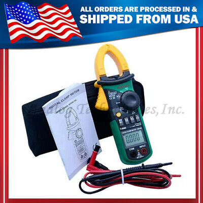 New Ms2108 Digital Clamp Meter True-rms Acdc Current 6600 Compared W Fluke