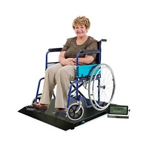 NEW Digital Portable Floor Wheelchair Scale Platform with Ramp