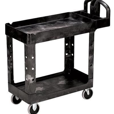 Rubbermaid Fg450088bla Utility Cart Heavy Duty Plastic 39wx18dx33h Black