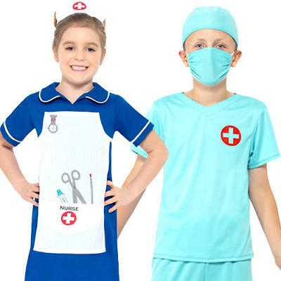 Medical Kids Fancy Dress Doctor Uniform Occupations Boys Girls Childrens Costume - Occupations Fancy Dress