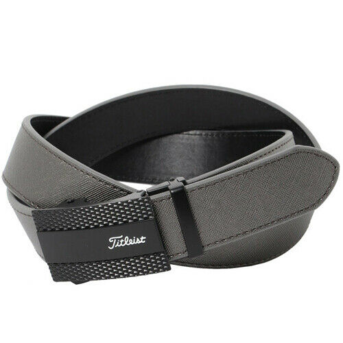 Titleist Keylit Belt Golf Tour Buckle Leather AABT02 (Gun Metal)