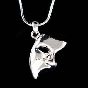 The Phantom of the Opera Broadway Masquerade Mask Unisex Pendant Charm Necklace