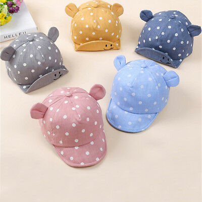 Dot Baby Caps New Girl Boys Cap Summer Hats For Boy Infant Sun Hat With Ear FJ - Hats For Boys