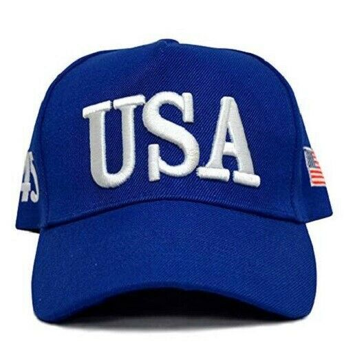 USA TRUMP HAT – BLUE – 45TH PRESIDENT – MAKE AMERICA GREAT AGAIN-BLUE Clothing, Shoes & Accessories