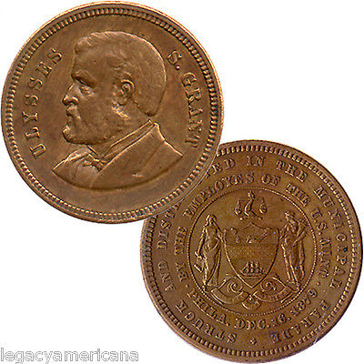 1879 Ulysses Grant Philadelphia Homecoming Parade U.S. Mint Medalet (1932)