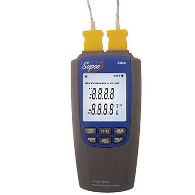 Supco Em60 Dual Differential Thermometer For Hvacr Service Technicians