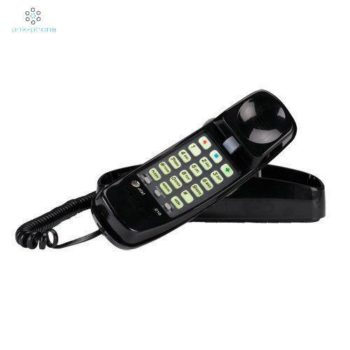 AT&T 210 Basic Trimline Corded Phone No AC Power Required Wa