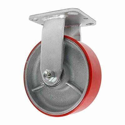 6 Inch Rigid Fixed Caster - 6 X 2 Polyurethane On Iron Wheel - 1200 Lb Weight Ca