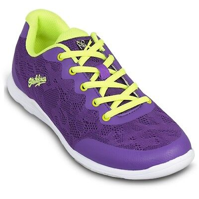 (KR Strikeforce Lace Purple/Yellow Women's Bowling Shoes)