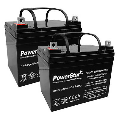 PowerStar 12V 35AH AGM Battery for Hoveround MPV5 MPV4 Wheel