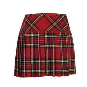 8e98597c25 Pleated Tartan Mini Skirts