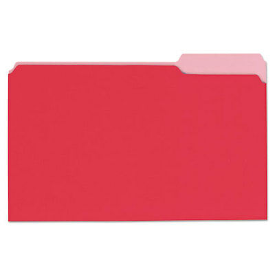 Deluxe Colored Top Tab File Folders 13-cut Tabs Legal Size Redlight Red